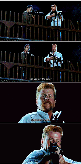 S6E9 - the moment Abraham prevented my head from exploding over Glenn AGAIN. At least we didn't have to wait 3 weeks this time.