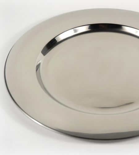 Charger Plate Stainless Steel 12in Save 42 Charger Plates Silver Charger Plates Silver Chargers