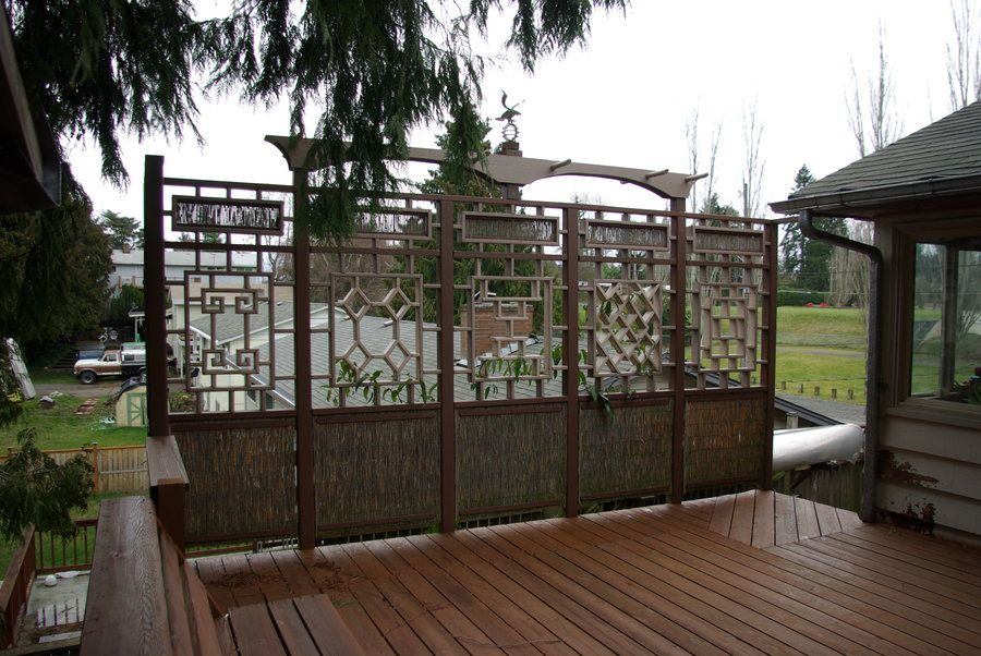 Deck Railing Privacy Ideas Deck Privacy Wall Hand Rail