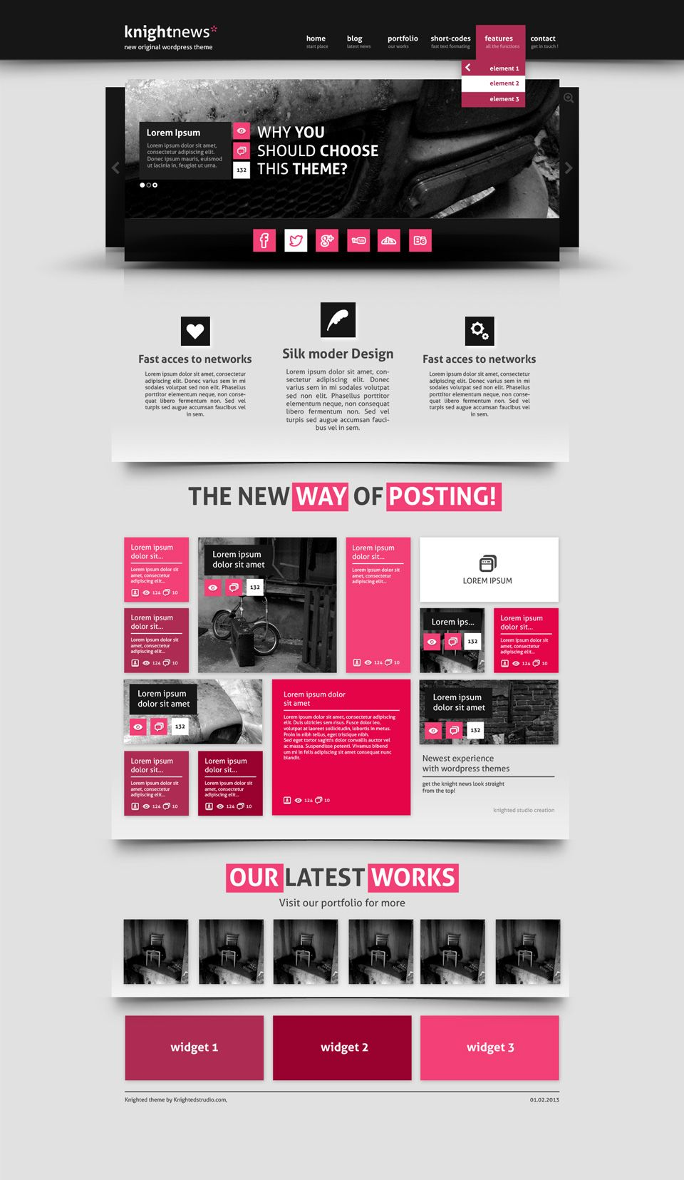 knightnews Website Template | Psd templates, Template and Layouts