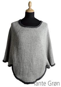 strikket poncho med ærmer opskrift