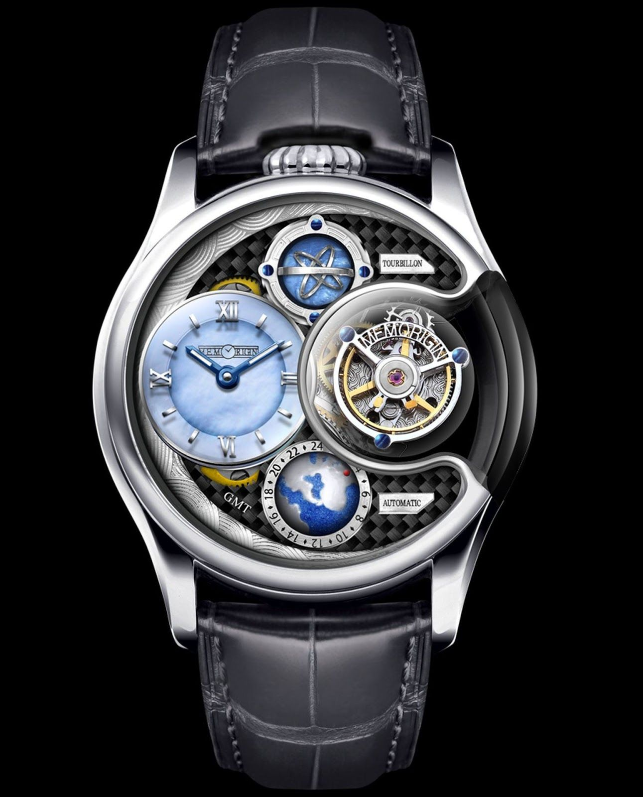 structural watch gold mens flying tourbillon titanium skeleton mastergraff and dlc in white watches automatic