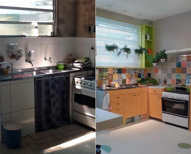 Programa Mais Você da Ana Maria Braga, realizou uma transformação em uma cozinha com modelos de azulejos.