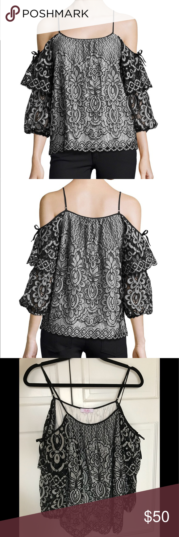 "db5530b559b8a2 Parker ""Nikita"" Blouse A gorgeous addition to your cold-shoulder  collection"