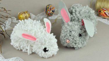 DIY voor Pasen: schattige konijntjes van pompoms - Roomed