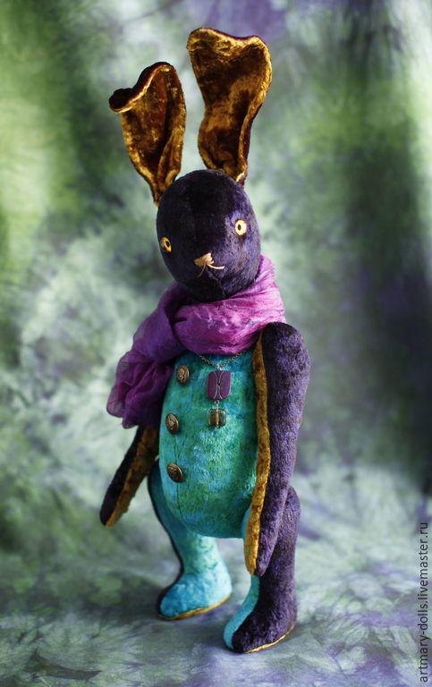 Купить Шалимар - темно-фиолетовый, заяц тедди, мишка тедди, кролик, заяц, зайка, шалимар