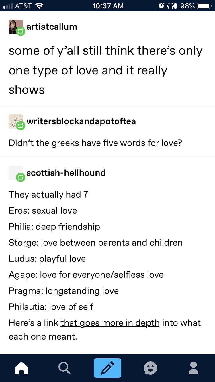 Arten der liebe
