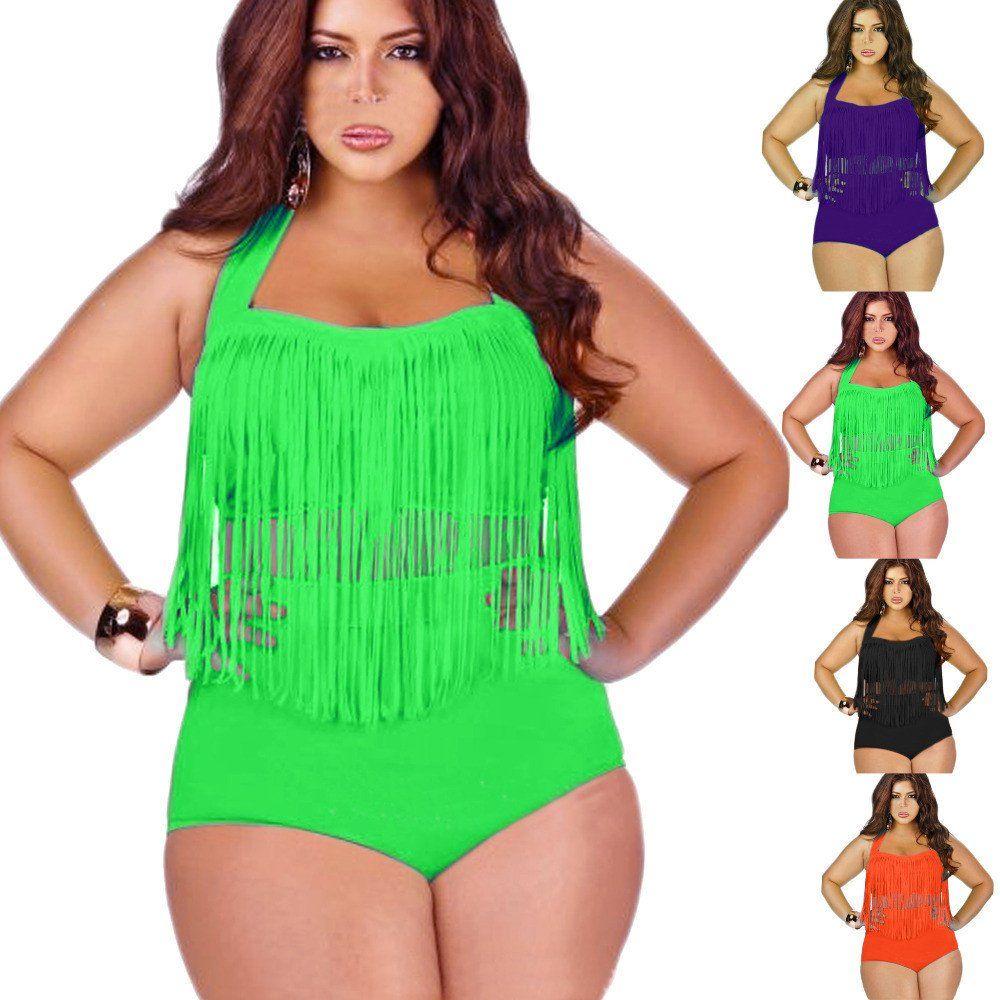 Plus Size Swimwear Large Size Large Women Swimsuit Bathing Suits Fat Girl Female Swimwear Lots Big Woman Beach wear Two Piece