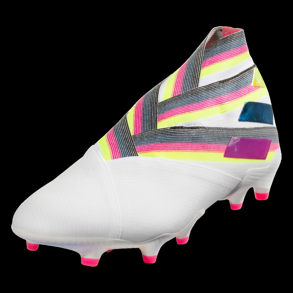 adidas Nemeziz 19+ FG ADV Soccer Cleat WhitePinkYellow