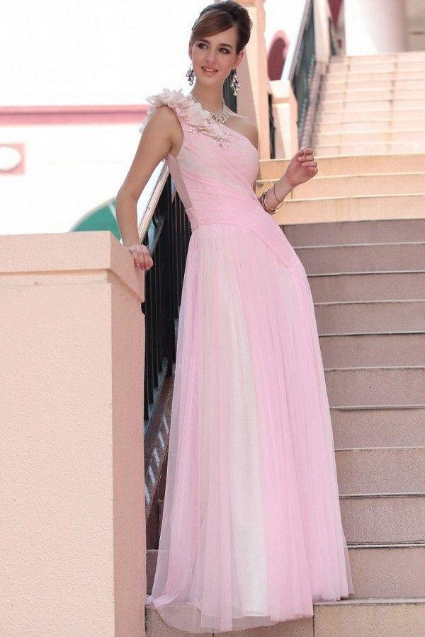 Amandadress Supplies Elegant Girls Tulle Natural One Shoulder