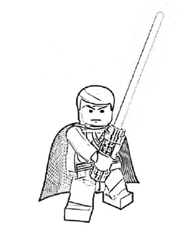 lego star wars coloring pages luke | Coloring Pages For Kids | Pinterest