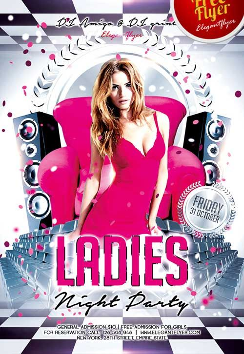 Ladies Night Free Psd Flyer Template  HttpFreepsdflyerCom