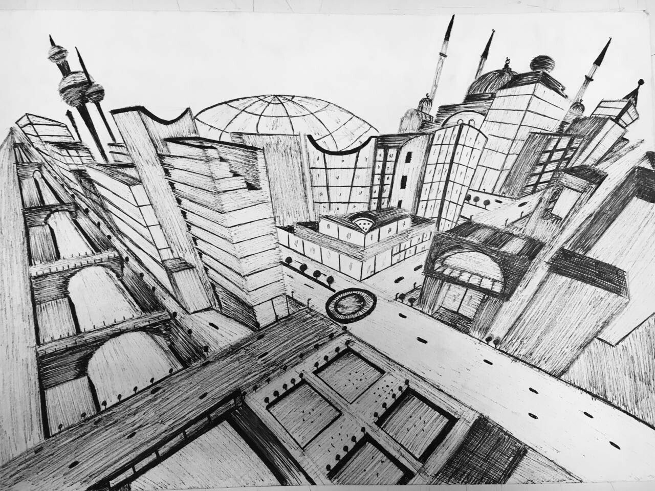 Amazing & beautiful city sketche (3 v.p)  by Moufido Younos
