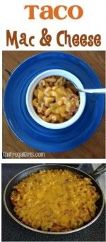 Taco Macaroni and Cheese Recipe at TheFrugalGirls.com #tacomacandcheese