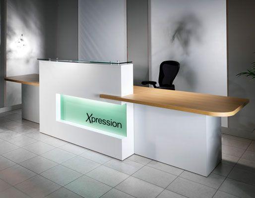 Xpression reception desk | Reception desk with design fascia ... | {Büro küche design 94}