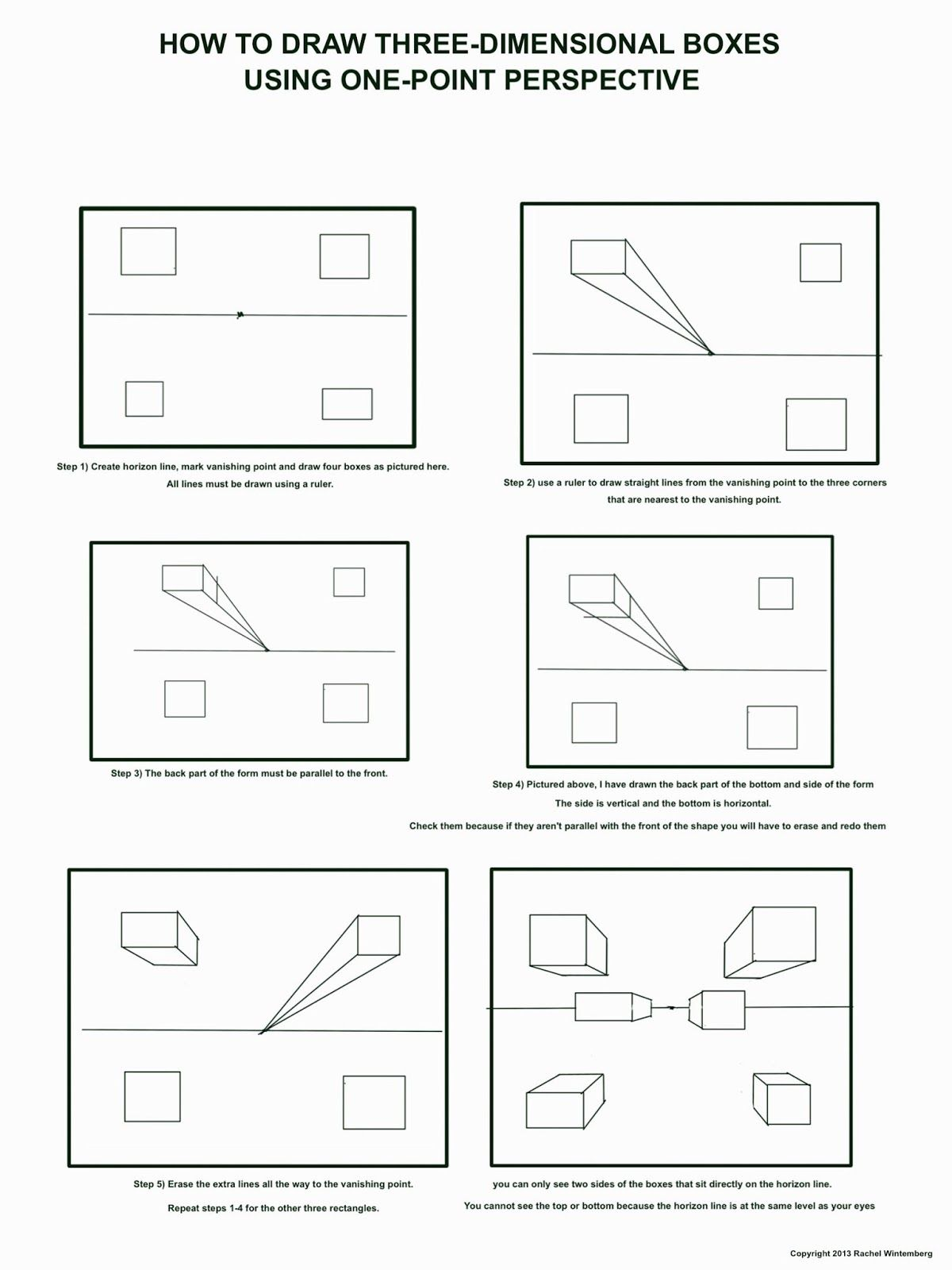 The Helpful Art Teacher Fun With One Point Perspective Boxes And Other Geometric Forms