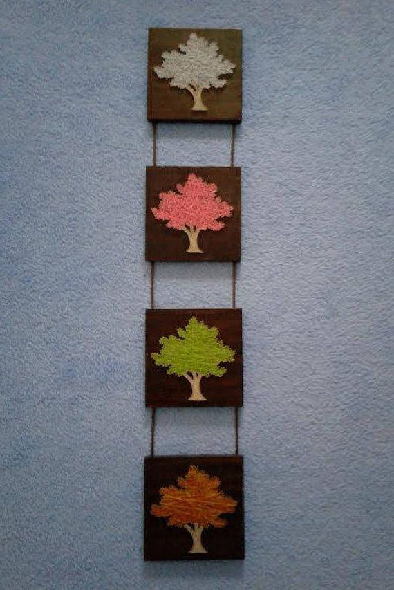 Tree String Art Picture Four Seasons Perfect For Gifts Details
