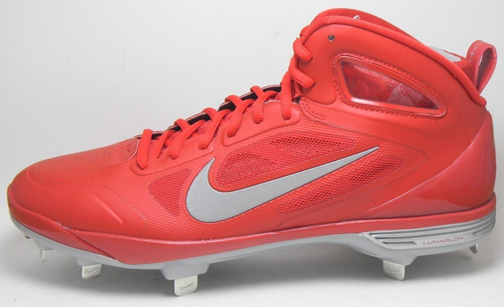 brand new fbdf0 95a79 NEW NIKE LUNAR HUARACHE CARBON ELITE METAL BASEBALL CLEATS SIZE 11.5 RED  SILVER in Sporting Goods, Team Sports, Baseball   Softball   eBay