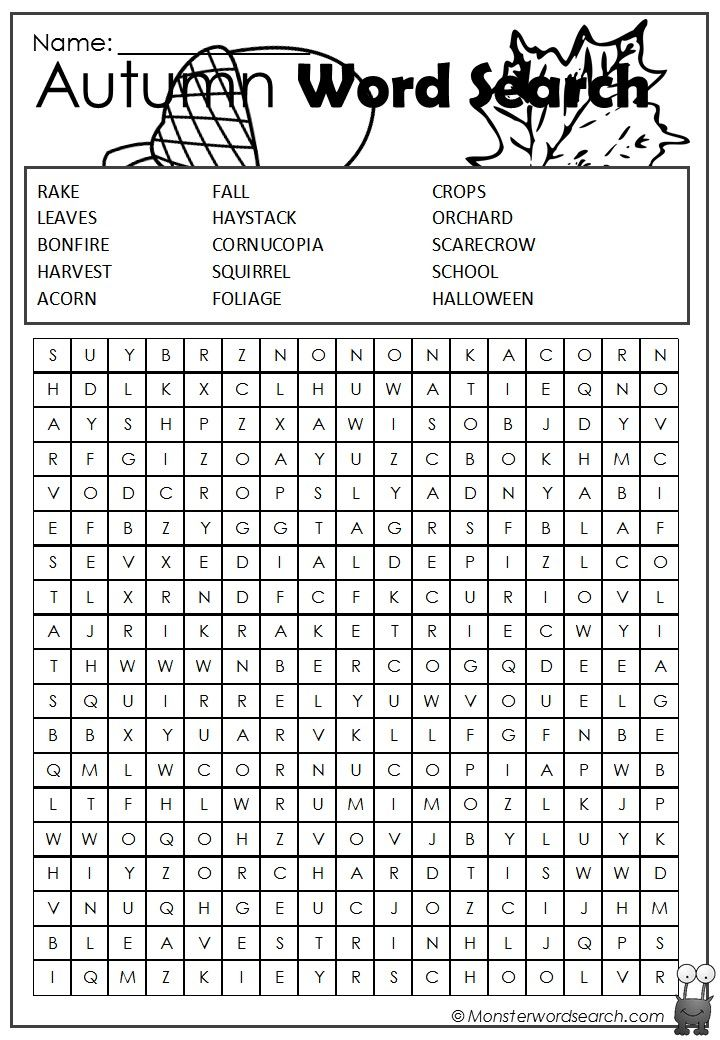 Awesome autumn word search word search englisch schule - Awesome englisch ...