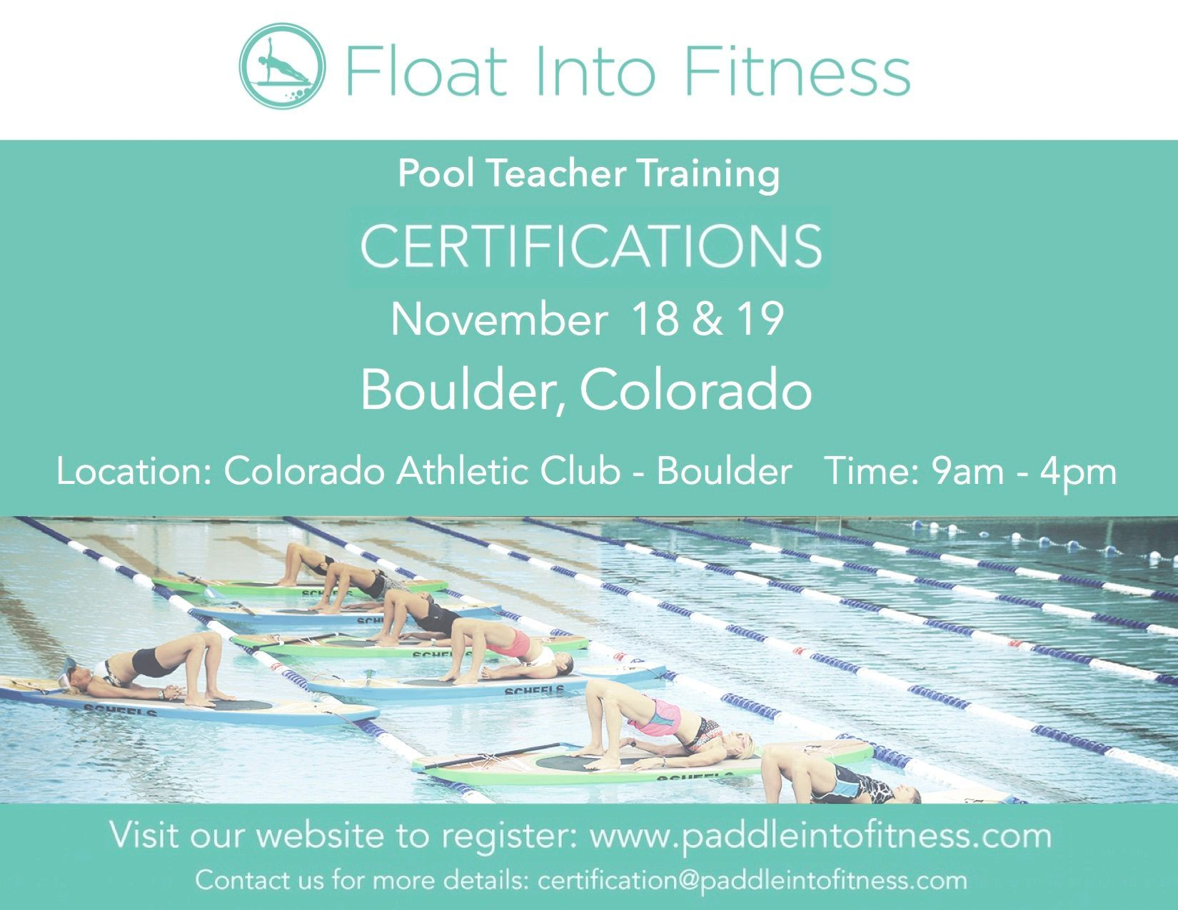 Get certified to teach pool sup and floating fitness our colorado explore teacher certification dna and more 1betcityfo Gallery