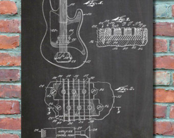 Fender guitar pickups patent wall art print patent art blueprint fender guitar pickups patent wall art print patent art blueprint patent print malvernweather Gallery