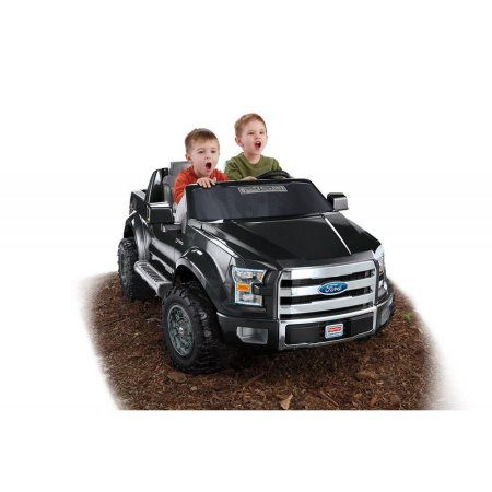 Fisher Price Power Wheels Ford F 150 12 Volt Battery Powered Ride On Black Power Wheels Ride On Toys Kids Jeep