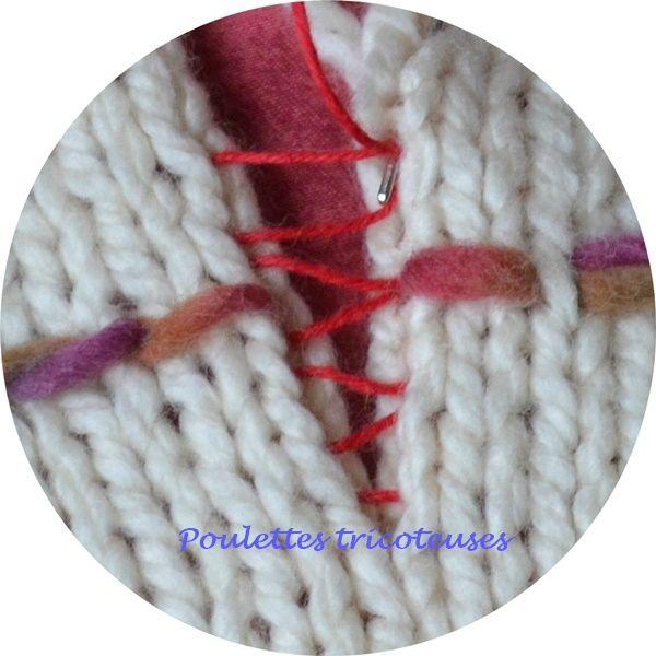 assembler un ouvrage la couture invisible les poulettes tricoteuses de bihorel couture. Black Bedroom Furniture Sets. Home Design Ideas