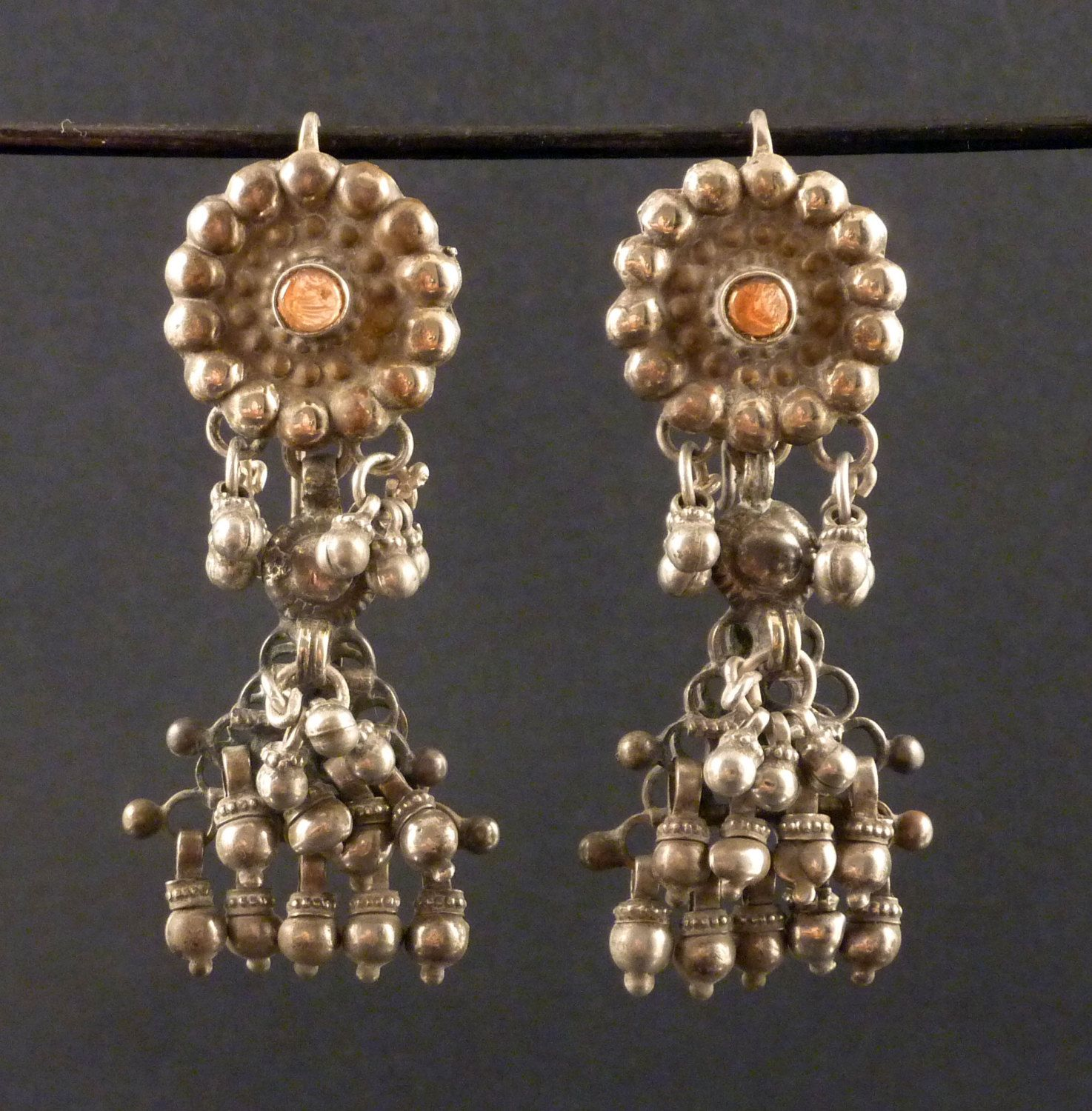 earrings oxidised gold rajasthani product plated detail silver jhumki mart jaipur brass design