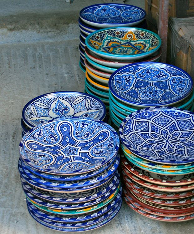 gorgeous ceramic plates, Moroccan-made ceramics