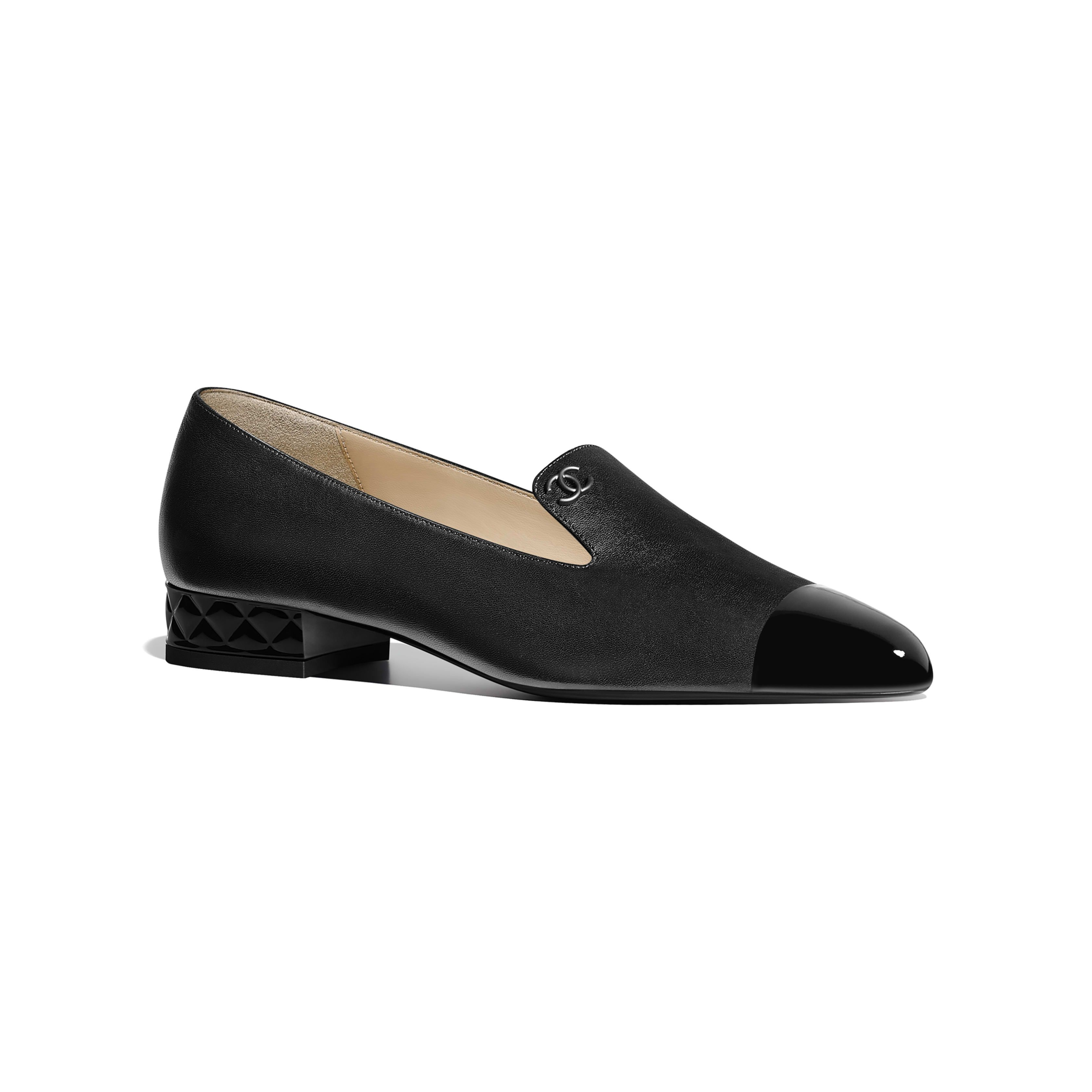 45ac03e1887 Loafers Lambskin   Patent Calfskin Black - view 1 - see full sized version