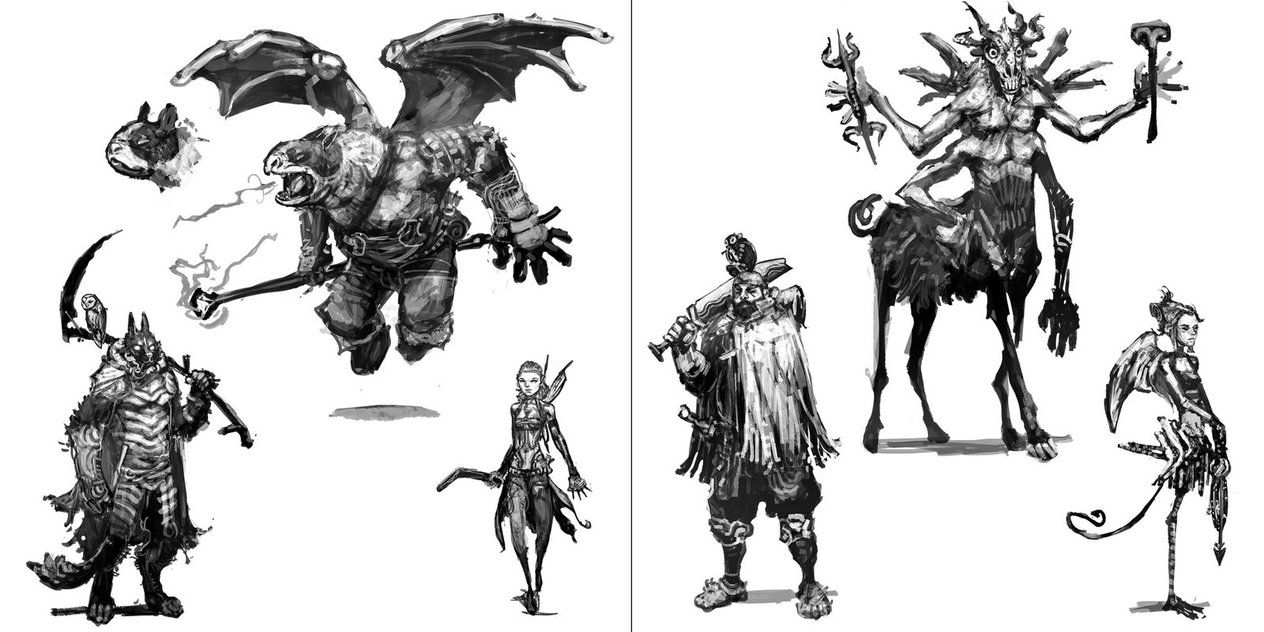 Fantasy Heroes Concept by kian02 on DeviantArt