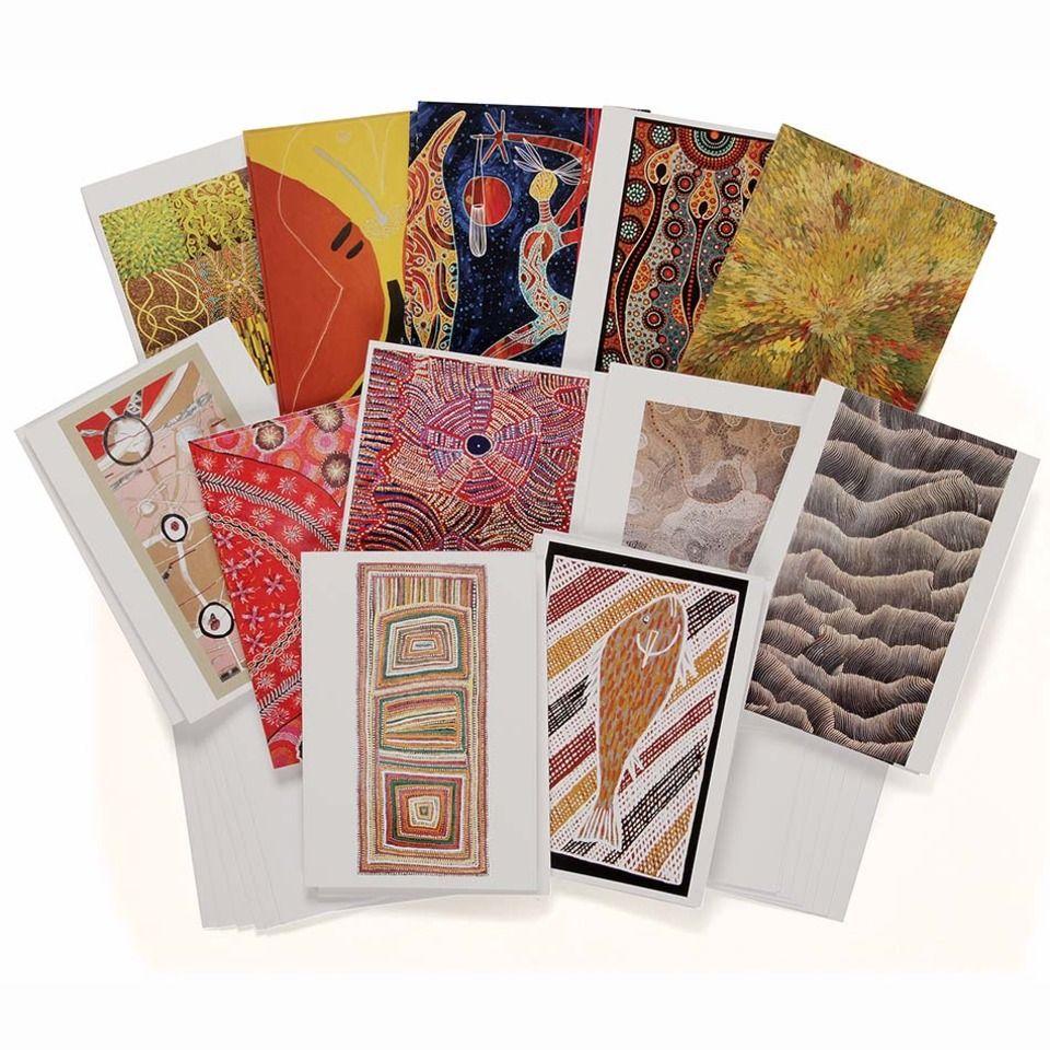 Australian Aboriginal Art Cards x 24 Oxfam Online Shop