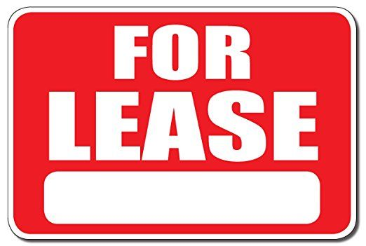 For lease bumper sticker decal white matte high grade vinyl made in usa brand new rectangular shape with rounded corners outdoor indoor suitable for ca