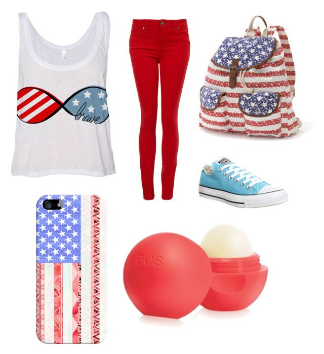 """""""Happy Late 4th of July!"""" by arm2003 ❤ liked on Polyvore featuring Paige Denim, Converse, Candie's and Casetify"""