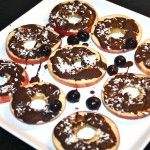 "Photo of ""apple slices"" with chocolate coconut"