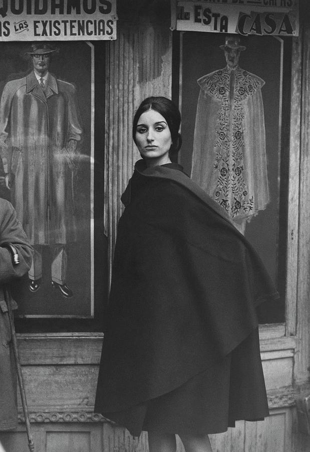 Photograph - Ana Mari Abascal Wearing A Cape by Henry Clarke #affiliate , #sponsored, #spon, #Mari, #Ana, #Henry, #Abascal
