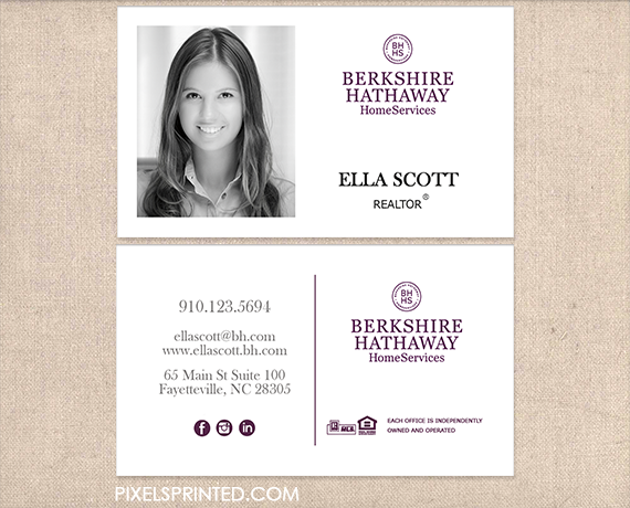 Bhhs Business Cards Sell Sell Sell Realtor Business Cards
