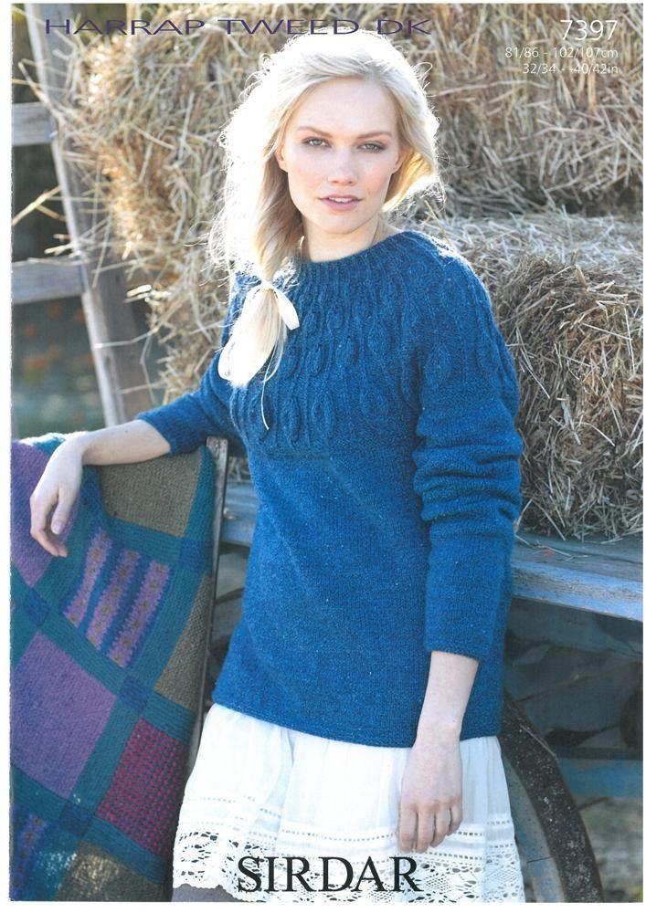 b195488bc061 Ladies Sweater in SIrdar Harrap Tweed DK