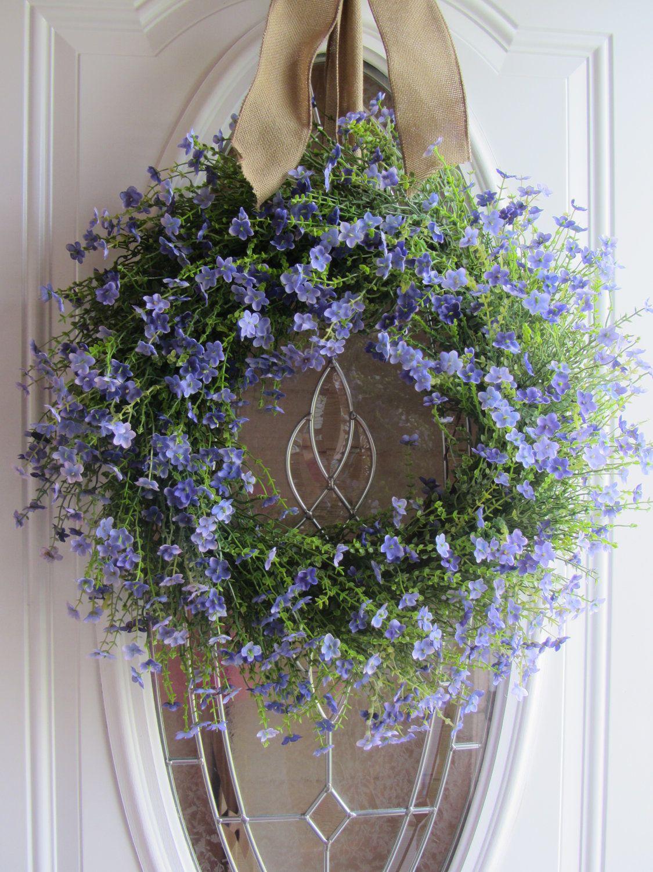 Front door ideas summer - Summer Wreaths Summer Wreath Front Door Wreath Country Wreath Lilac Wreath