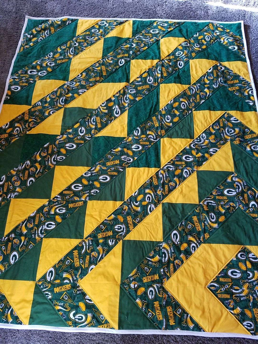 Green Bay Packers Quilt Hst Quilt Quilts Green Bay Green Bay Packers