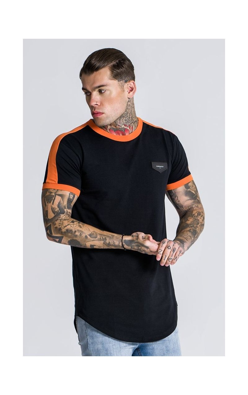Camiseta Gianni Kavanagh Negra Botones | Ropa casual hombres