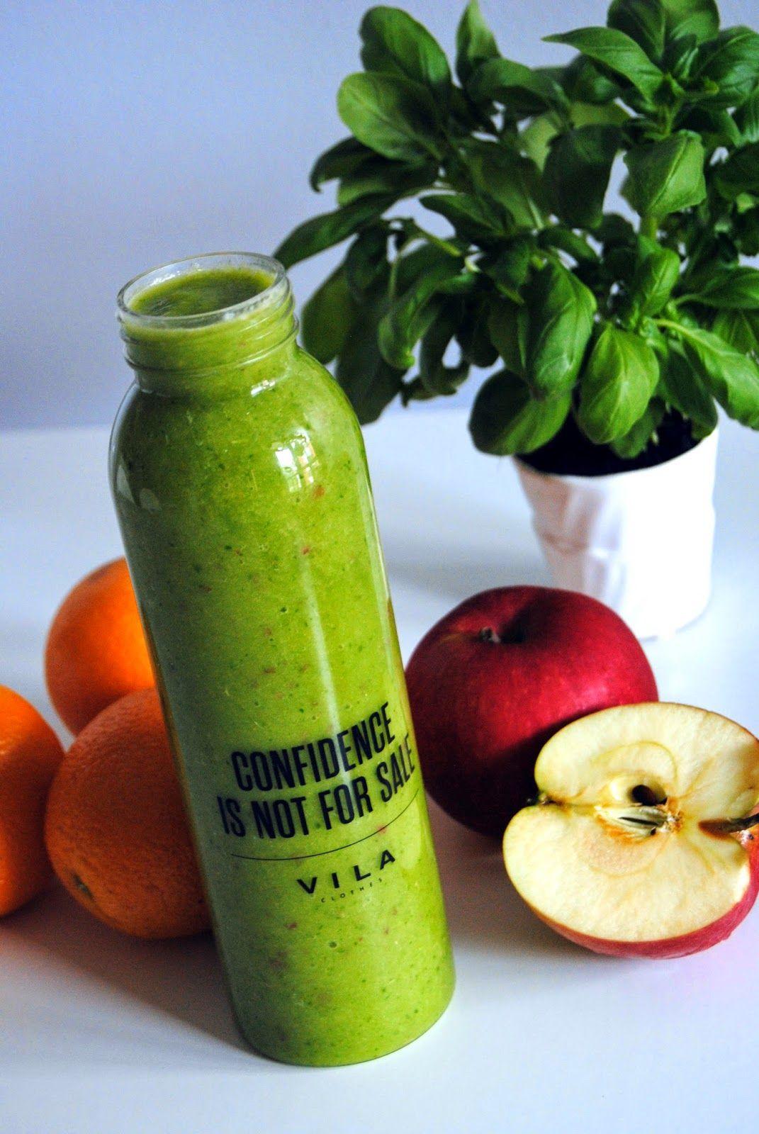 Terveen Hyvää: Helposti lähestyttävä vihreähkö smoothie