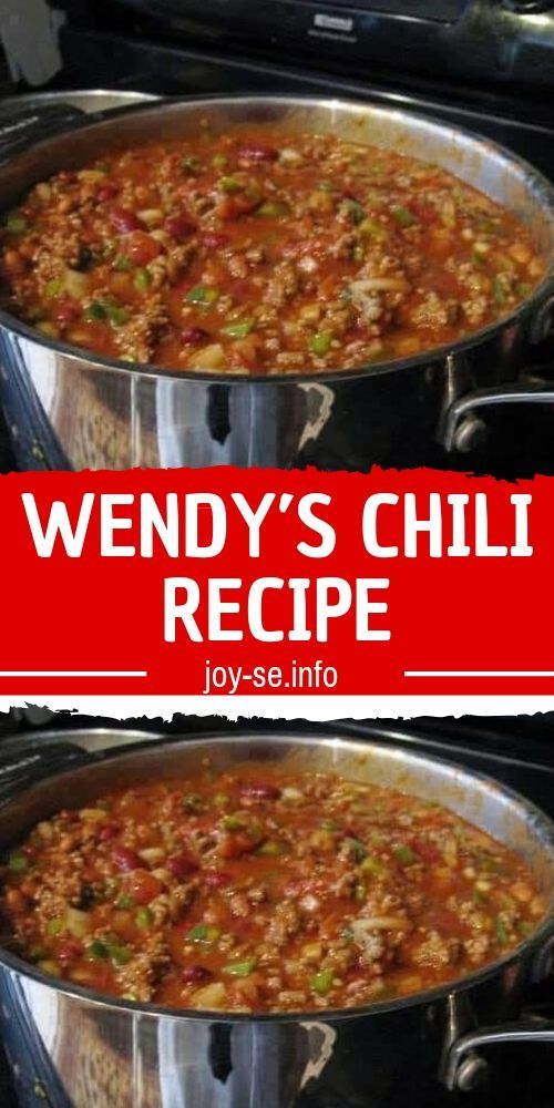 Ingredients 2 Pounds Fresh Ground Beef 1 Quart Tomato Juice 1 29 Ounce Can Tomato Puree 1 15 Ounce Wendys Chili Recipe Chili Recipes Recipes