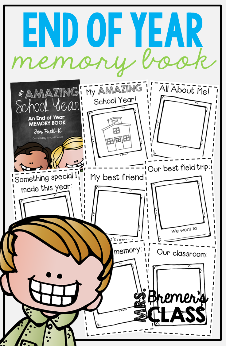 End Of The School Year Memory Book For Prek Kindergarten Create A Sweet Keepsake That Highligh Kindergarten Books Kindergarten Writing Activities Memory Books [ 1128 x 736 Pixel ]