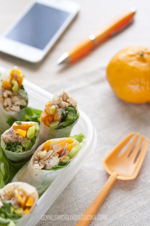 Involtini di carta di riso con verdure di stagione e tacchino | l ...