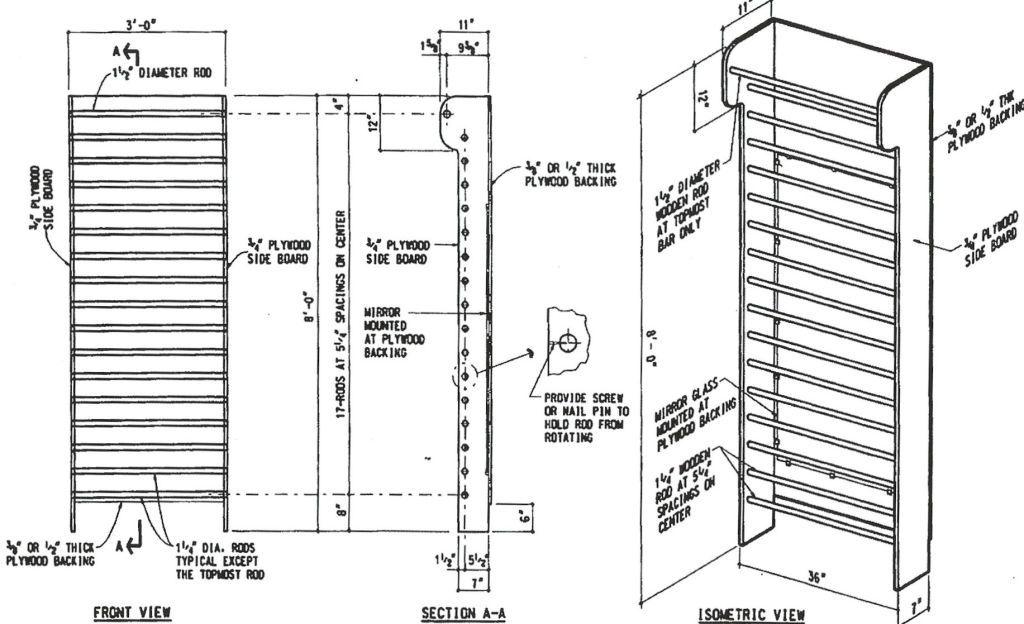 Diy Stall Bars In 2020 Wall Bar Diy Home Gym Diy Gym