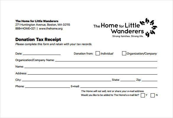 501c3 Tax Deductible Donation Letter Donation Form Receipt Template Donation Letter