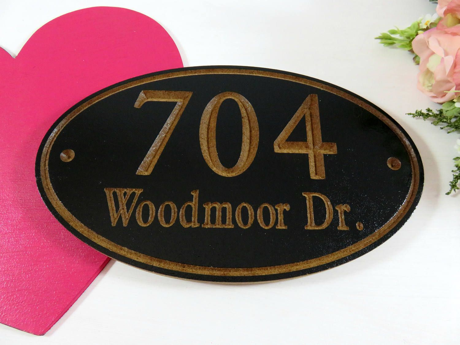 Personalized Address  Carved Address Sign  Location Sign  Hanging Address   Street Signs  New Homeowners Gift  Custom Outdoor Sign