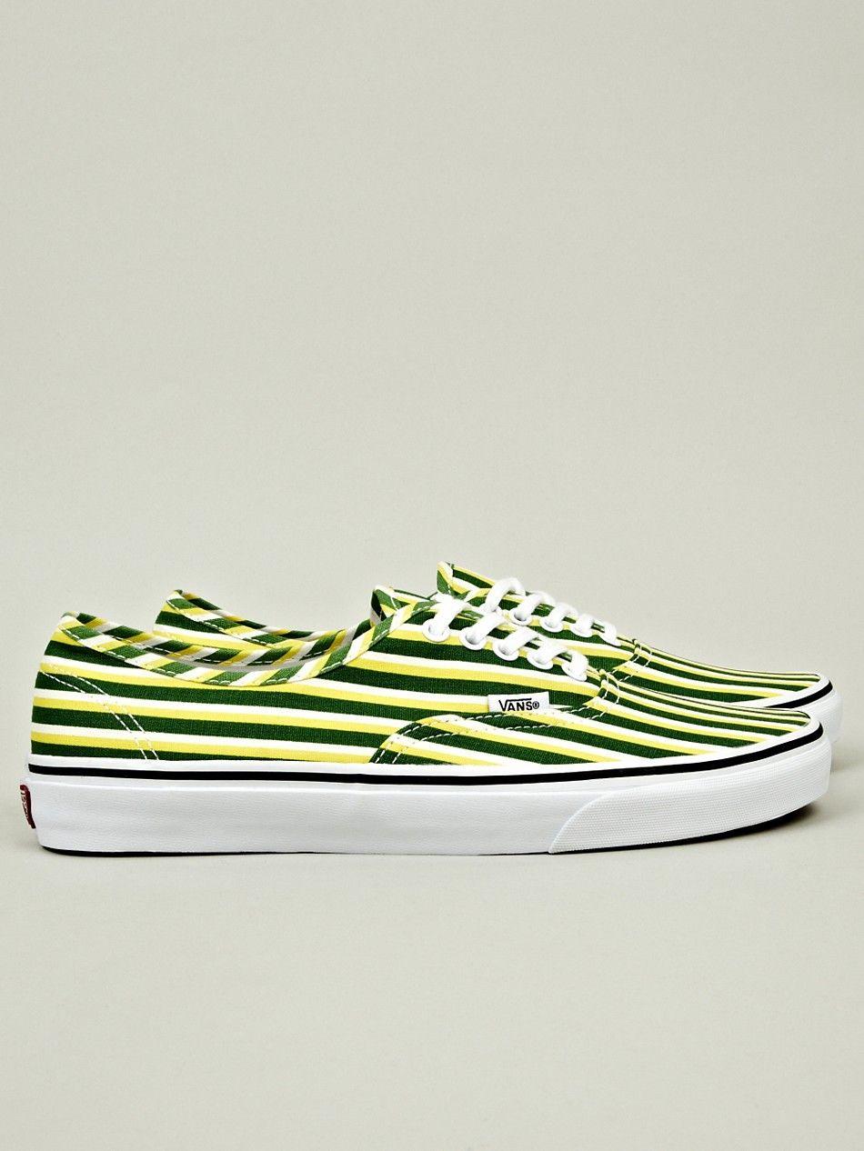 0931dc1f74 Kenzo x Vans Men s Striped Authentic in green   yellow at oki-ni