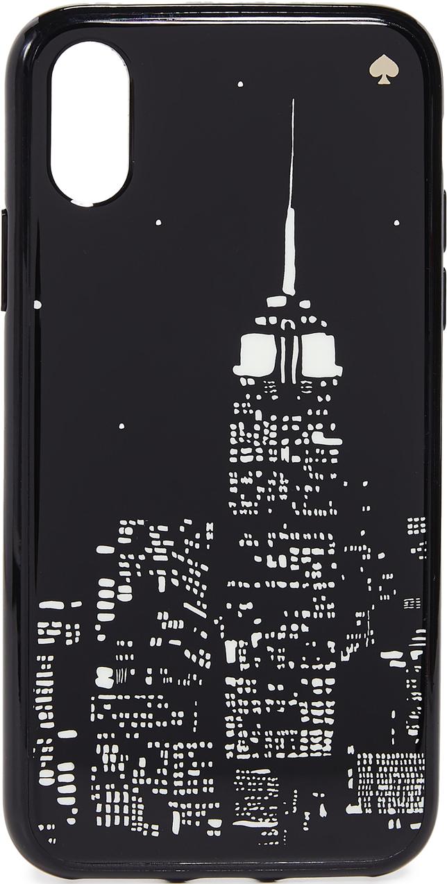 2085739897 Kate Spade New York Glow in the Dark Skyline iPhone X / XS Case - Black